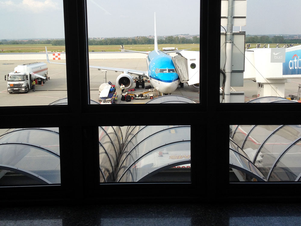 klm plane at Schiphol airport