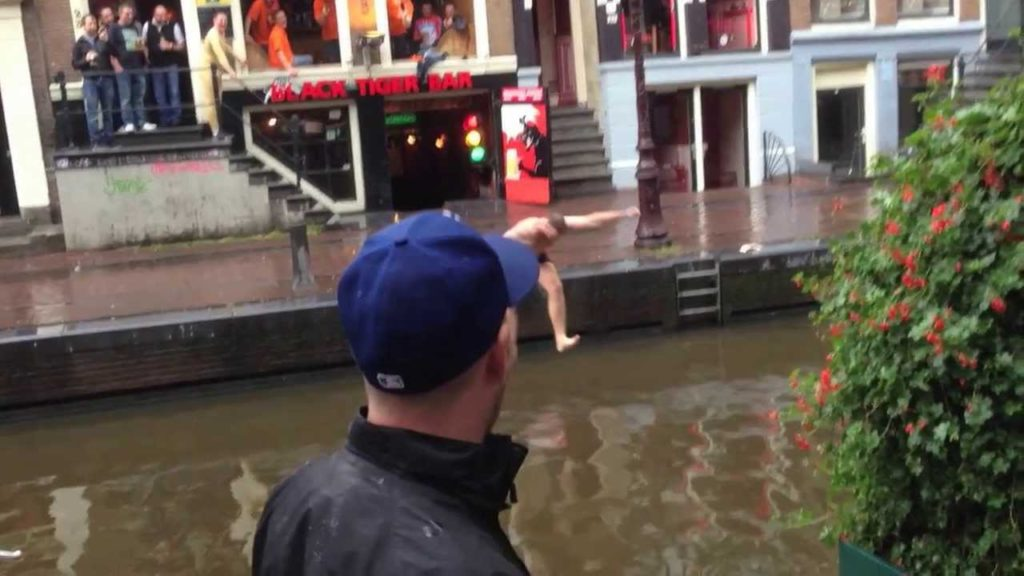 jumping - canals in Amsterdam