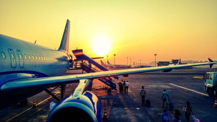 Grounded-airplane-coming-from-India-to-the-Netherlands