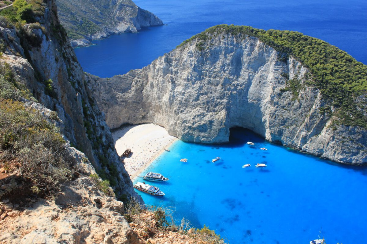 drone-view-of-a-Greek-island