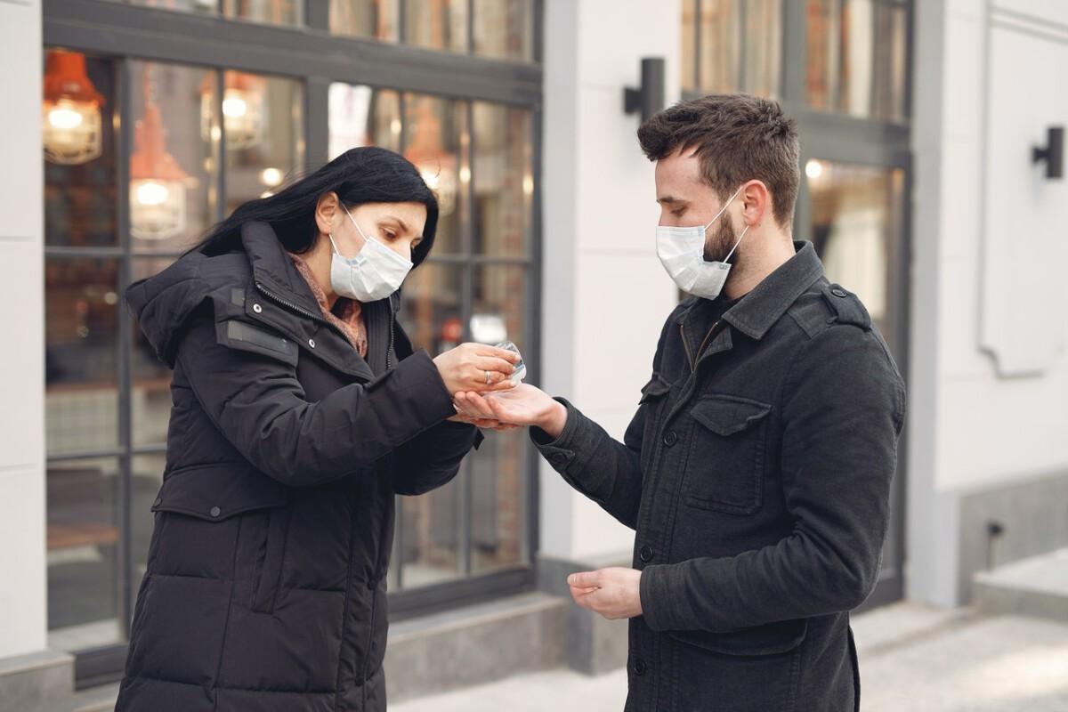 Coronavirus man and woman