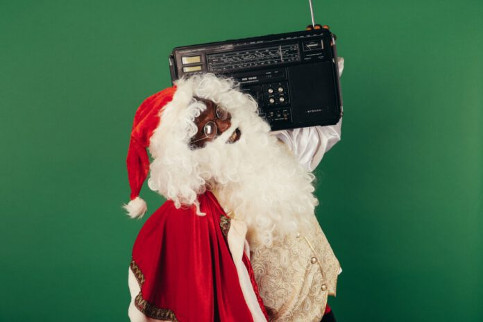 photo-of-santa-holding-boombox-dutch-christmas-music