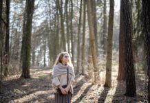 older-Dutch-woman-taking-a-walk-in-the-forest