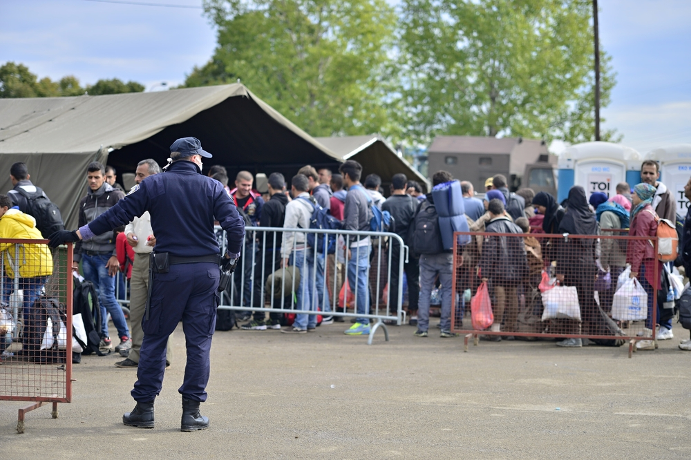 picture of refugees admitted to a centre