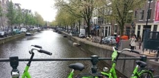 renting a bicycle in the Netherlands Amsterdam fiets