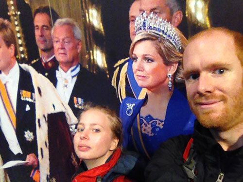 The selfie. Unfortunately, the King wasn't fully in it. I guess we'll have to try again.