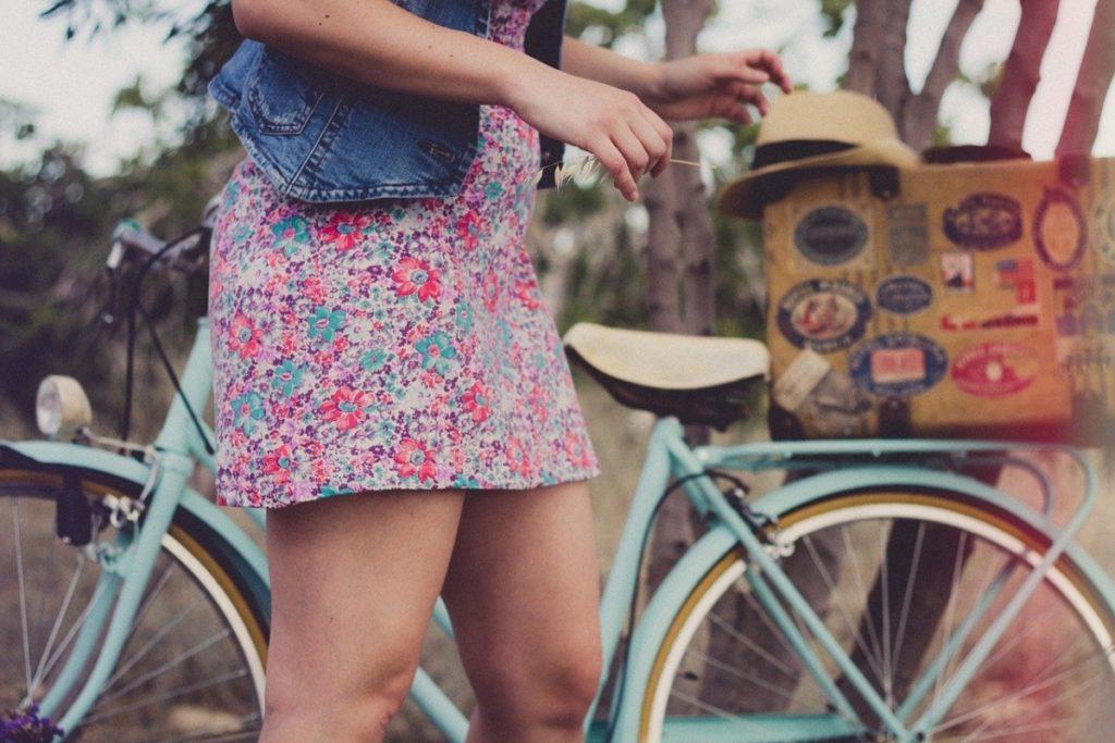 Girl with a bike
