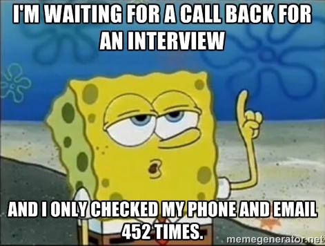Image result for job callback meme