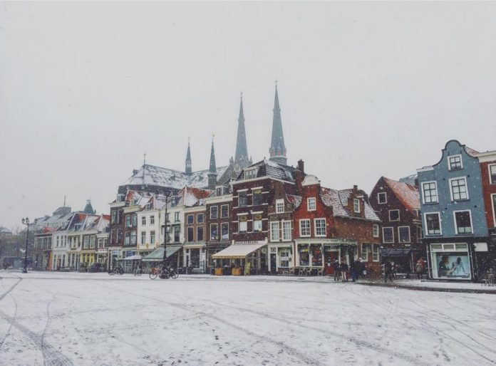 Snow in the Netherlands
