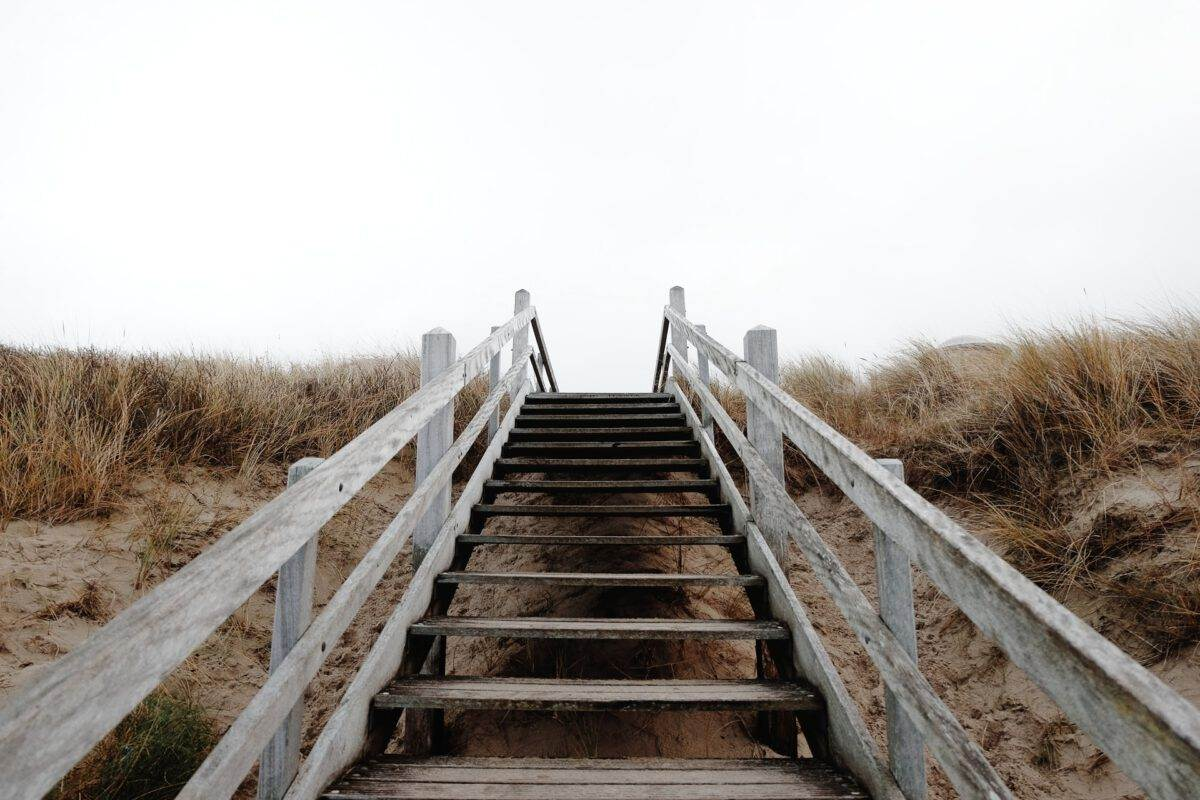 photo-of-wooden-stairs-at-the-domburg-beach-in-the-netherlands